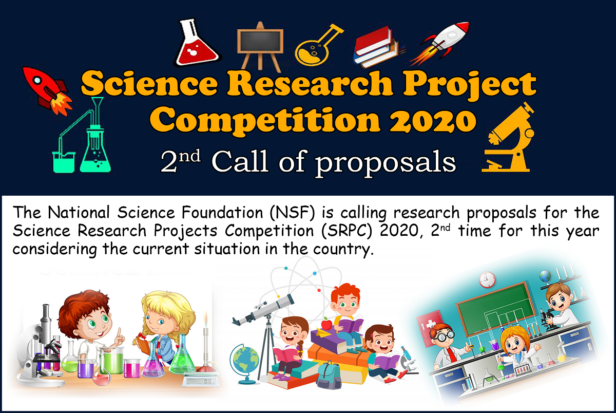 Science Research Project Competition 2020 2nd Call of proposals