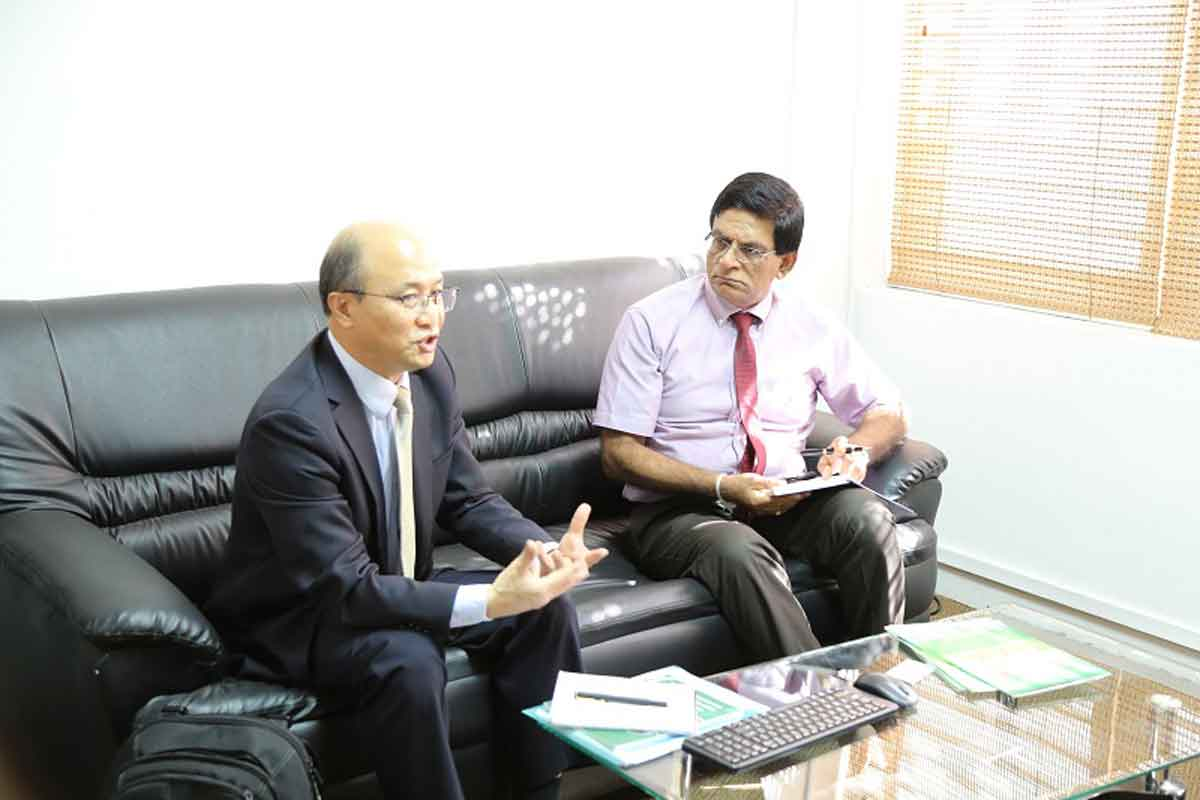 Meeting with Dr Kim Sungchol of World Health Organization